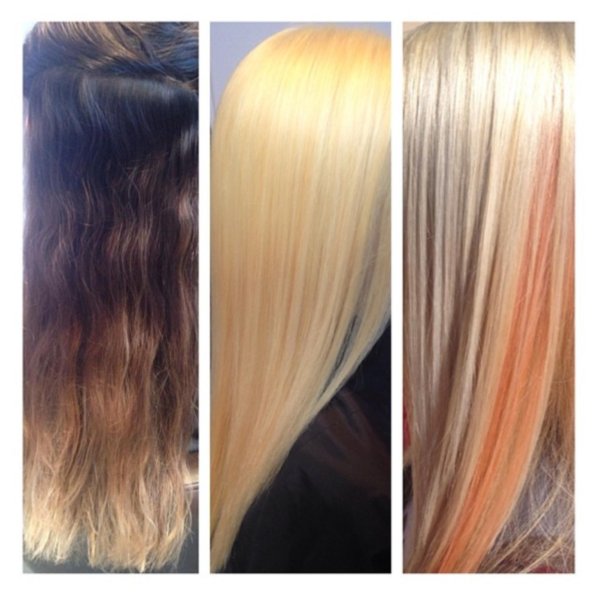 FORMULA HOW-TO: Blonde with Pastel Tangerine Peeking Through