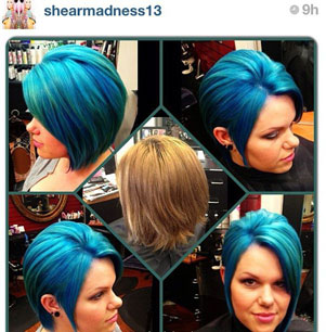 Pravana Vivids Blue and Green: Cut and Color How To