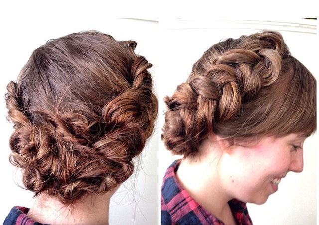 HOW-TO: Braided Halo Updo