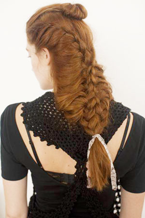 FASHION WEEK: Allen Wood for Bumble and bumble Creates Cool Braid for Gretchen Jones
