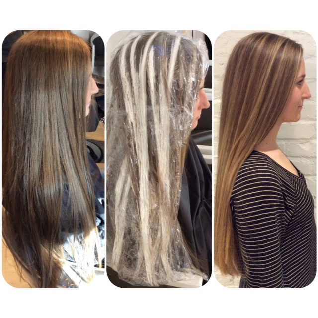 Formula Sunkissed Highlights On Virgin Hair Career Modern Salon