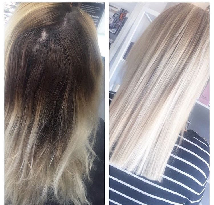 Color Correction Update And Tone To Pretty Platinum Hair Color