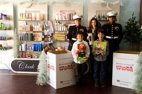 Salon Drive for Troops and Toys for Tots