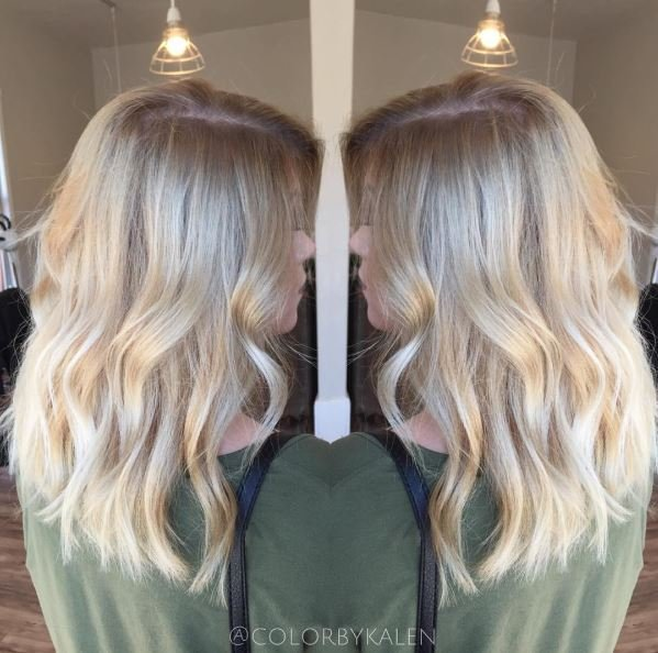 Level 2 Box Dyed Brunette To Beautiful Blonde Hair Color Modern