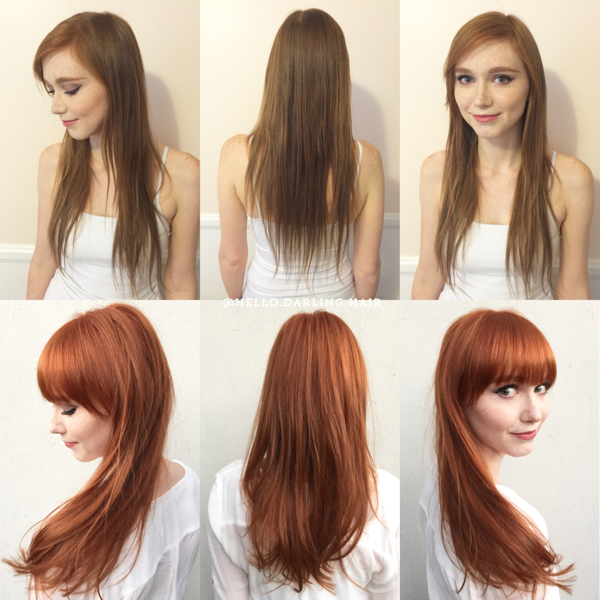 Believable Copper Blonde Transformation Hair Color