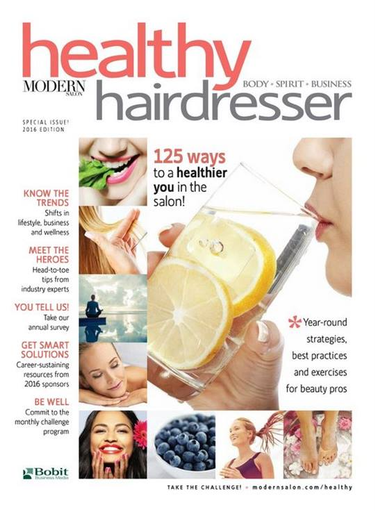 Healthy Hairdresser 2016 Cover