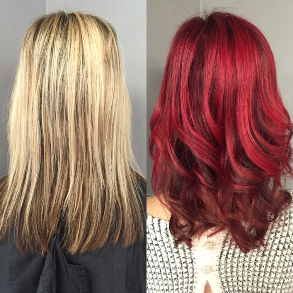 Transformation From Pretty Blonde To Red Hot Career