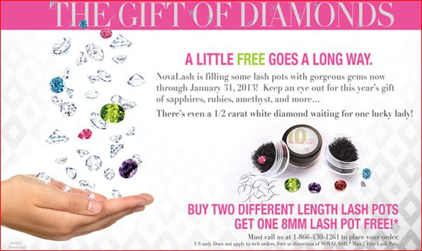 NovaLash Knows Girls Love Diamonds and Lashes