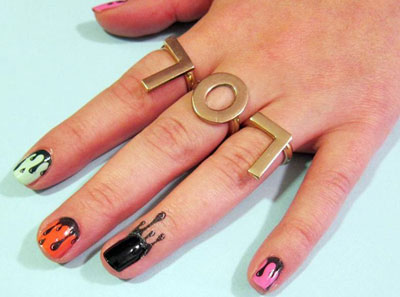 Nail Art: Drippy Nail Tattoos