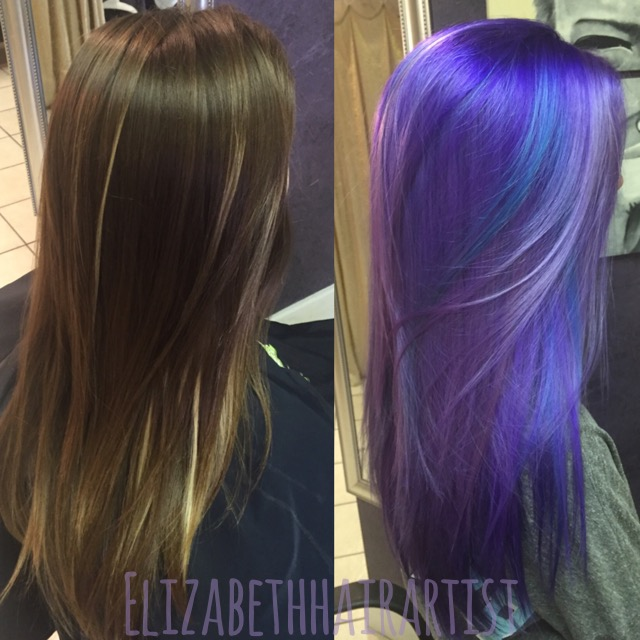 Makeover Perfectly Melted Purple And Blue Hair Color