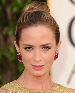 Emily Blunt's Look at the 2013 Golden Globes