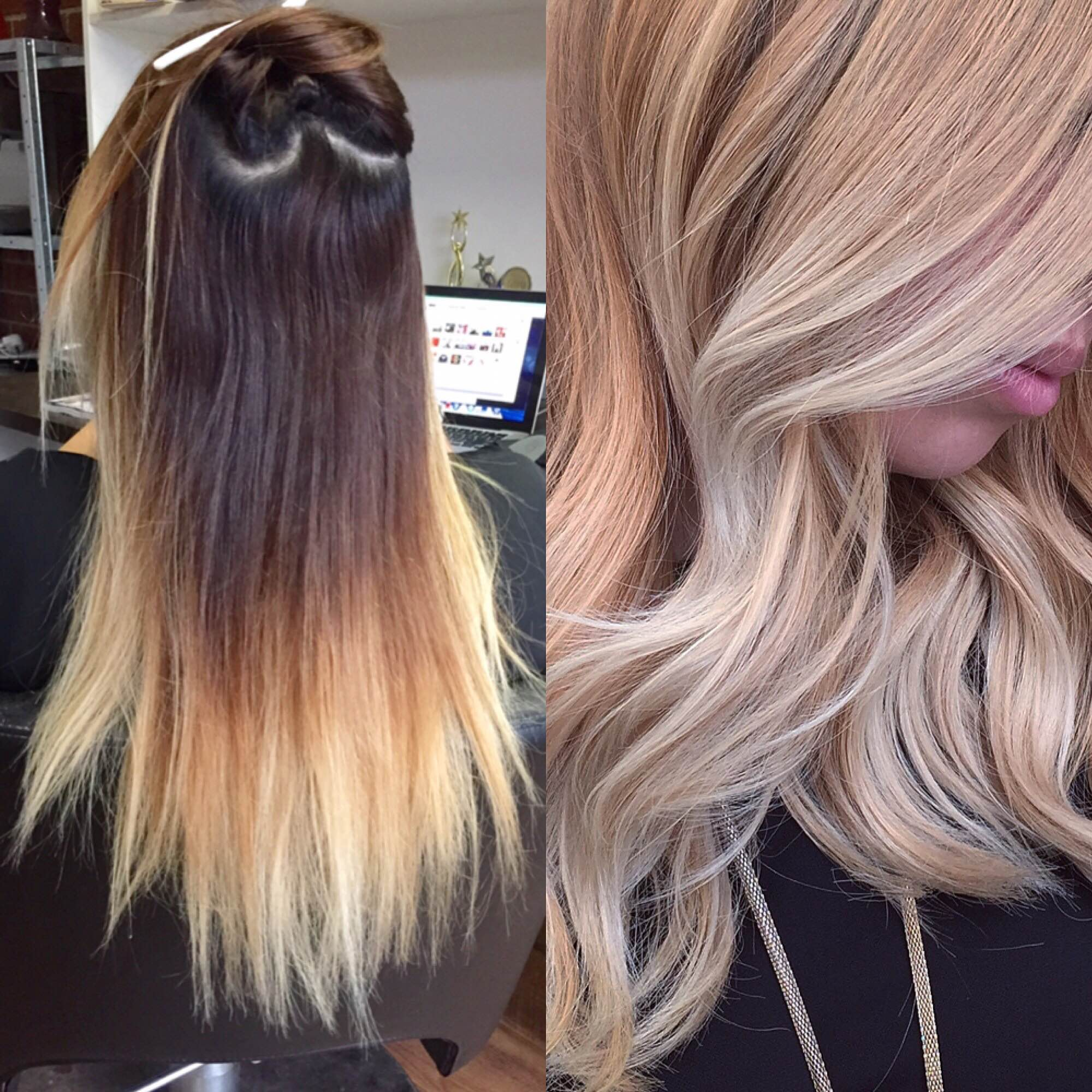 Transformation Dated Ombre To Modern Sombre Hair Color Modern Salon