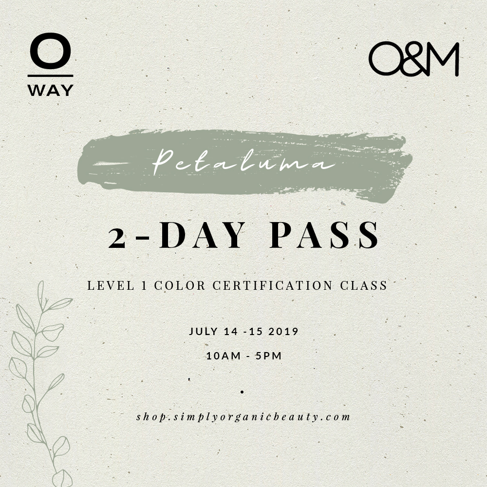 Oway + O&M 2-Day Level 1 Color Class Pass