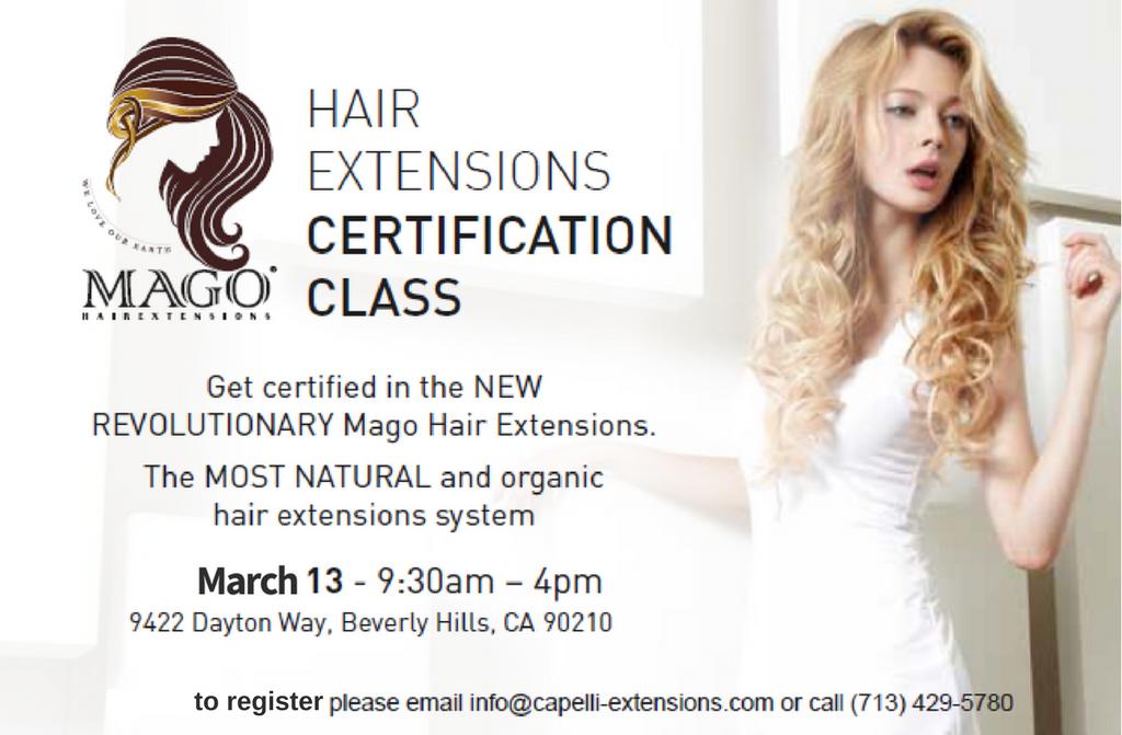 Mago Hair Extensions Certification Training Event Modern Salon