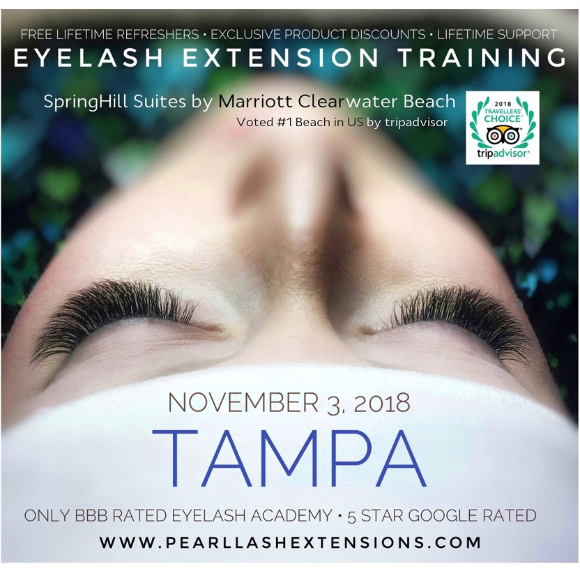 Eyelash Extension Training Tampaclearwater Beach By Pearl Lash