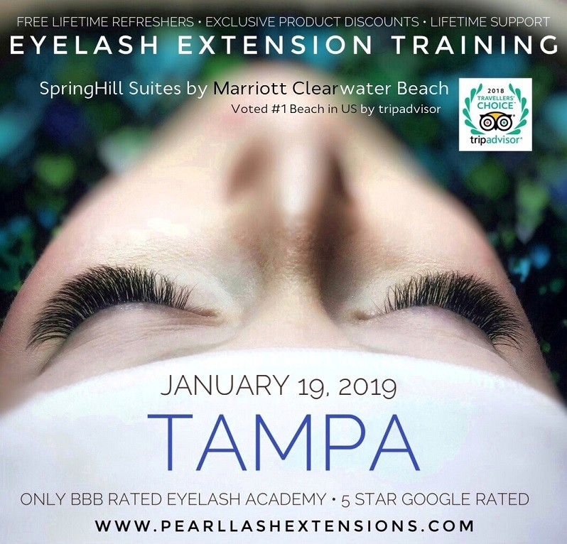 Eyelash Extensions Training Tampa Fl By Pearl Lash Event