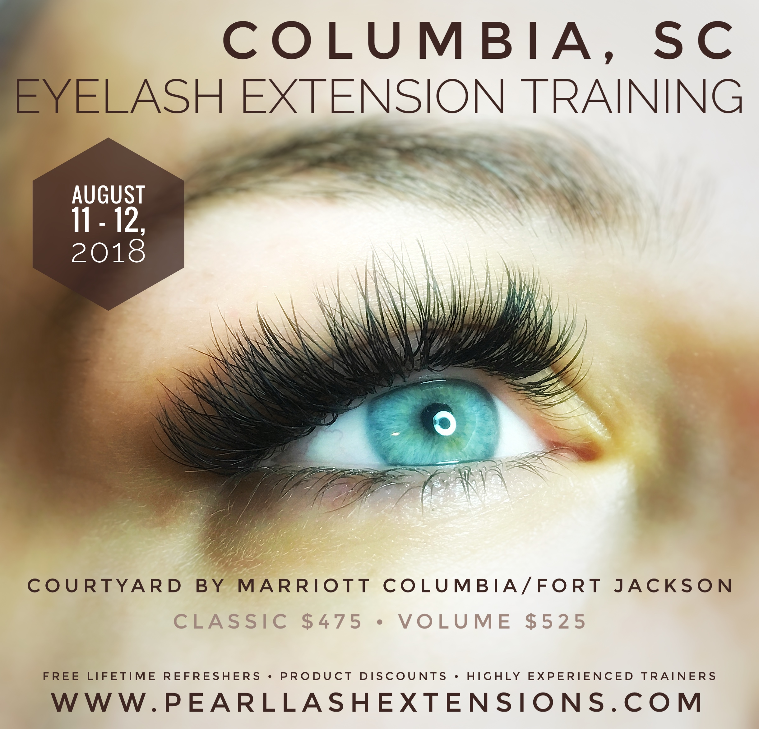 Eyelash Extension Training Columbia Sc August 2018 Event