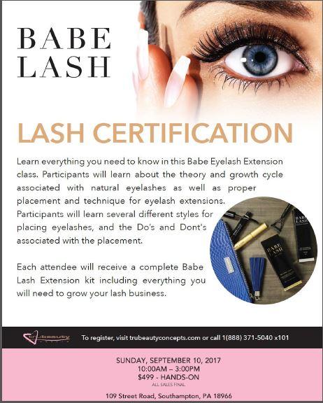 Babe Lash Certification- Event - Modern Salon