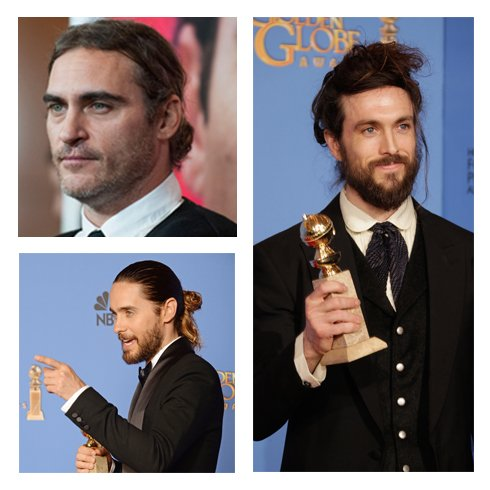 "2014 GOLDEN GLOBES: The ""Man Bun"" -- Hit or Miss?"
