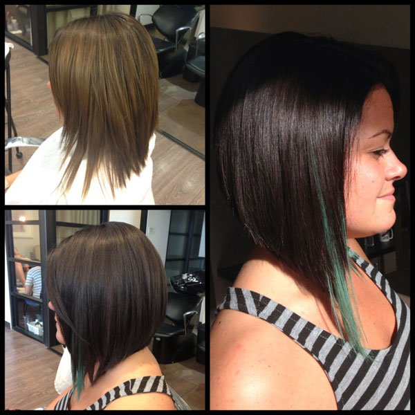 How To: Mousy Brown to Bold Brunette WITH Green Accent Pieces