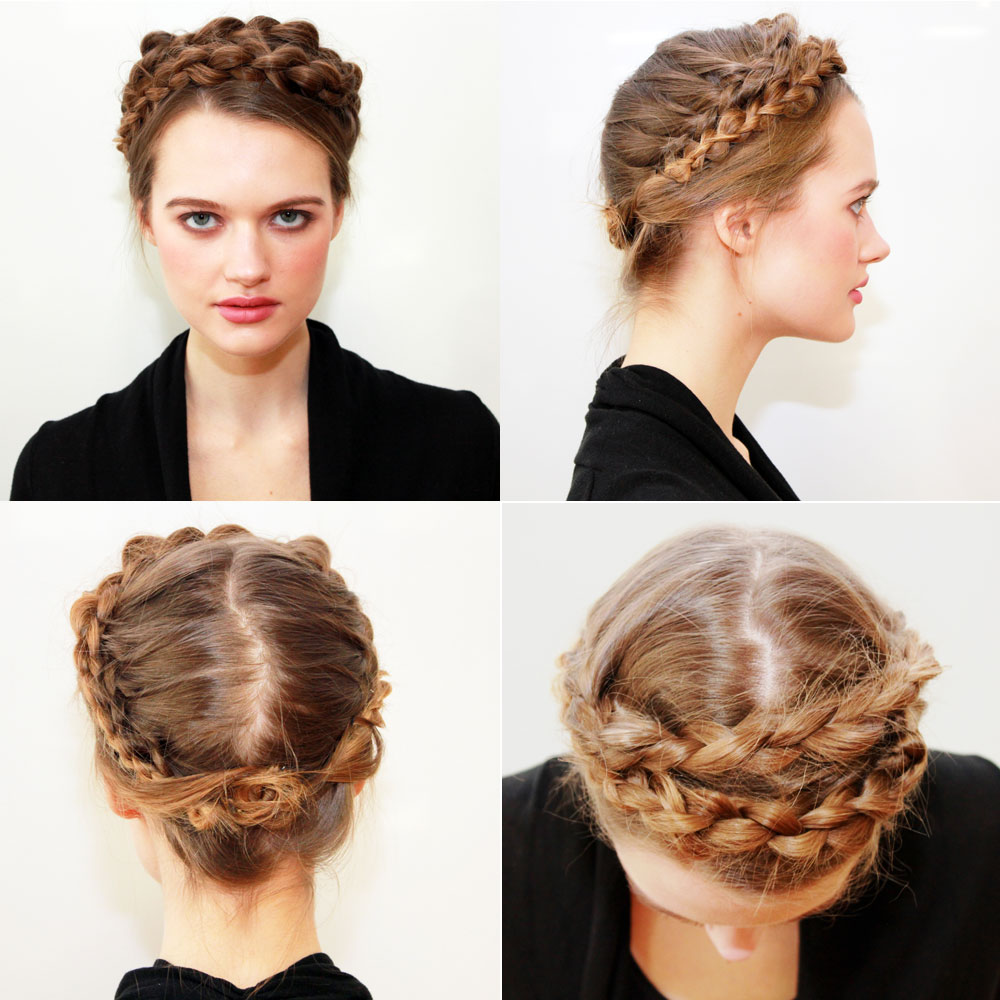 HOW-TO: Scandinavian Braided Crown from 2014 Fall/Winter NYFW