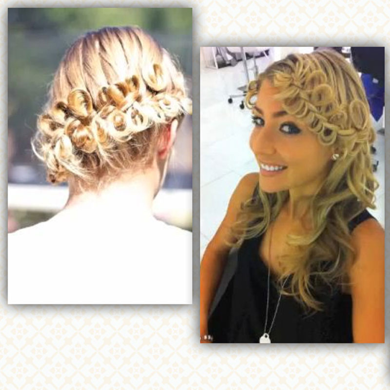 Stupendous French Braid With Hair Bows Braids Hairstyle Inspiration Daily Dogsangcom