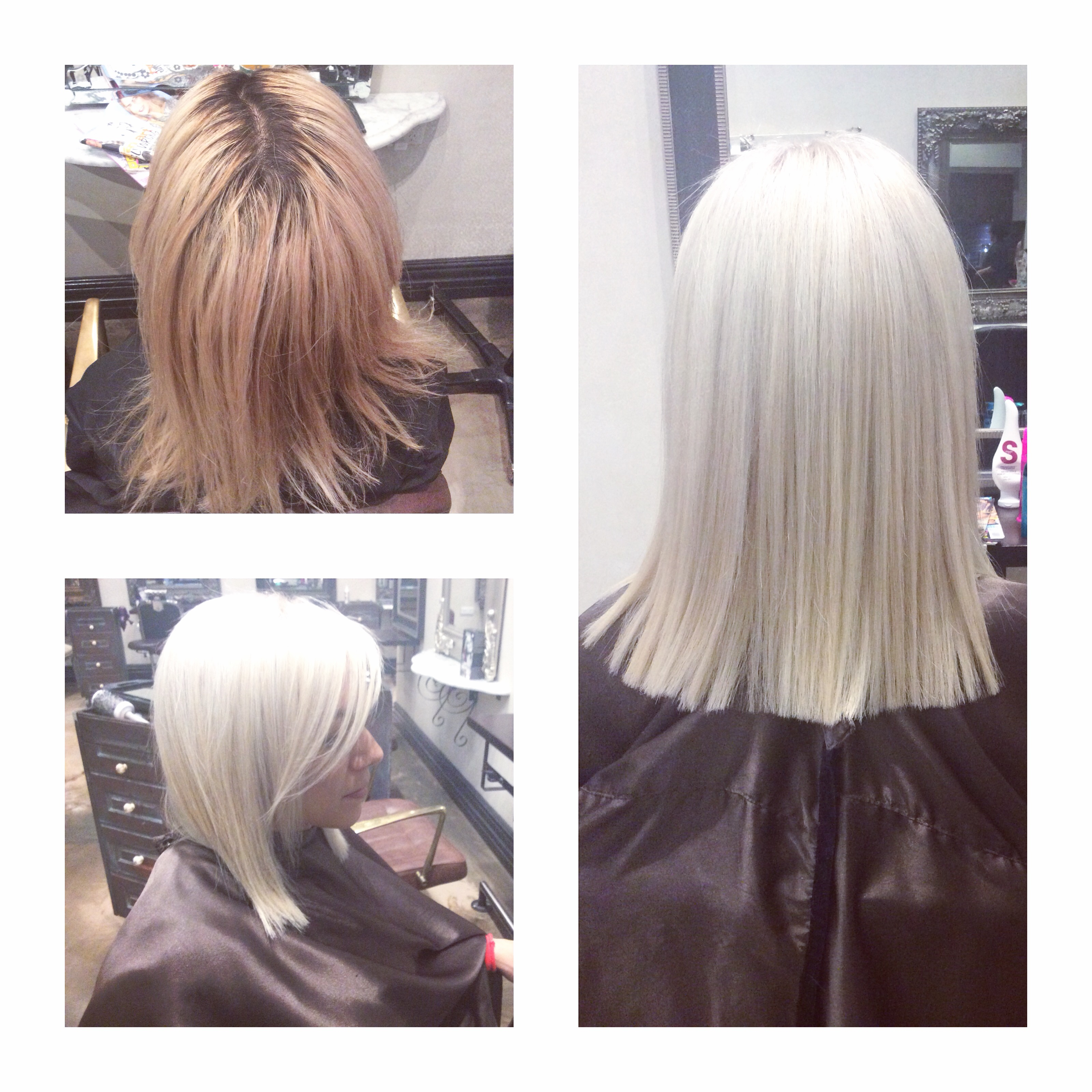Transformation White Out Blonde Career Modern Salon