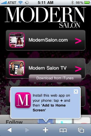 Introducing Modern Salon's new iPhone App!