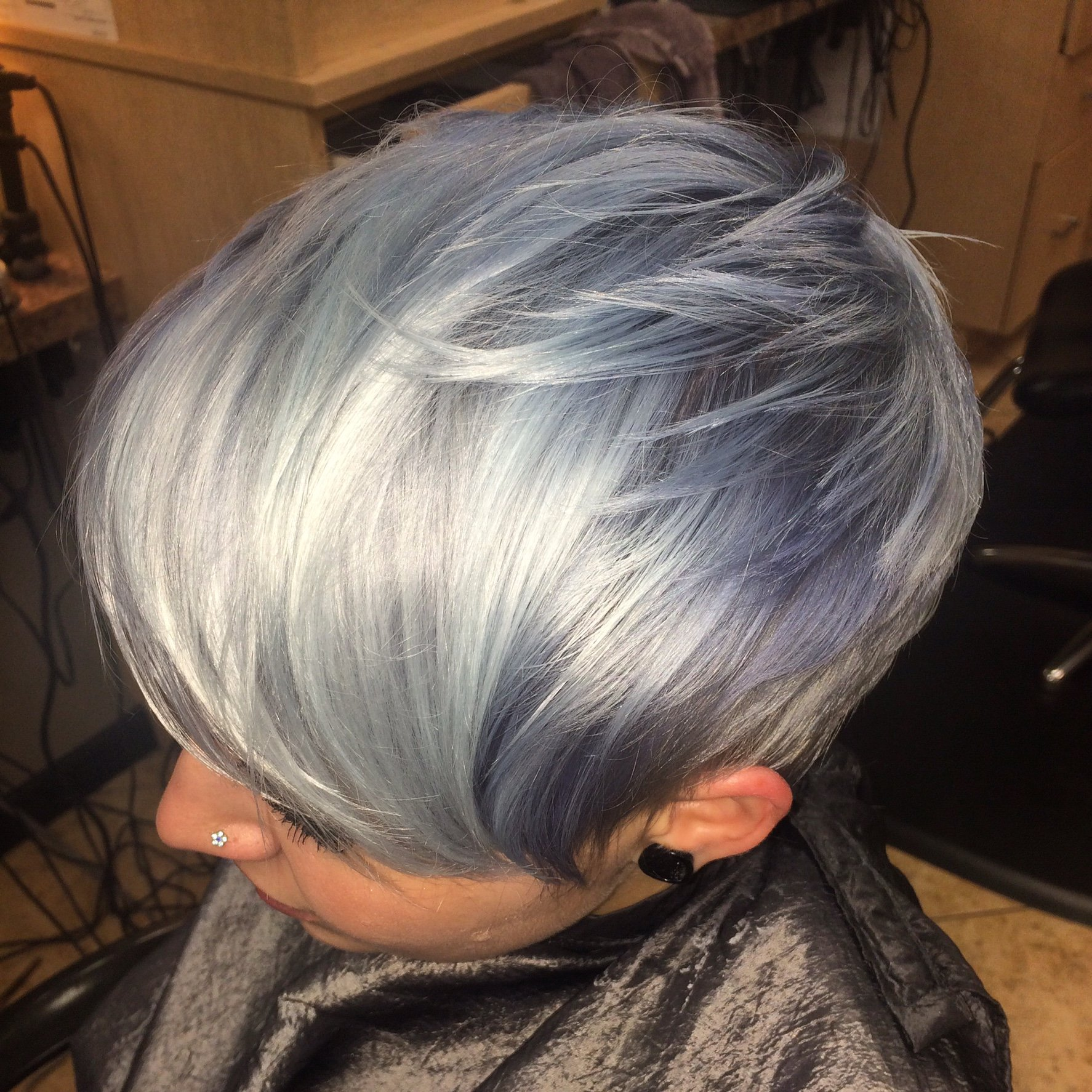 How To Icy Silver Hair Color Modern Salon