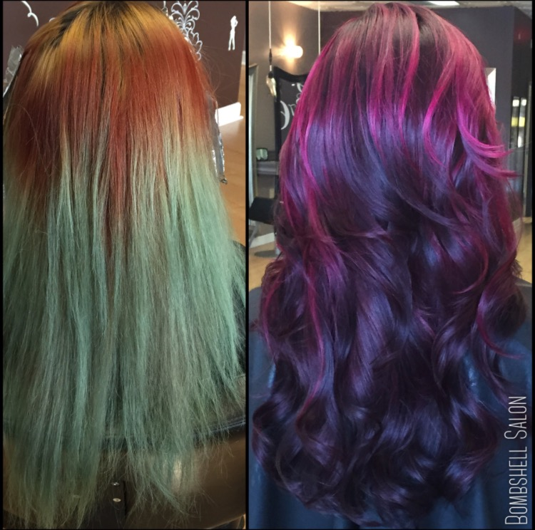 The Fix Messed Up To Pink And Purple Melt Career Modern Salon