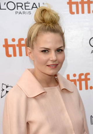 Jennifer Morrison Sports Messy Bun