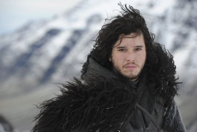 GAME OF THRONES: Jon Snow's Disheveled Mid-Length Curls