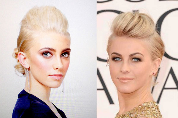 Actress Julianne Hough's Golden Globes Updo