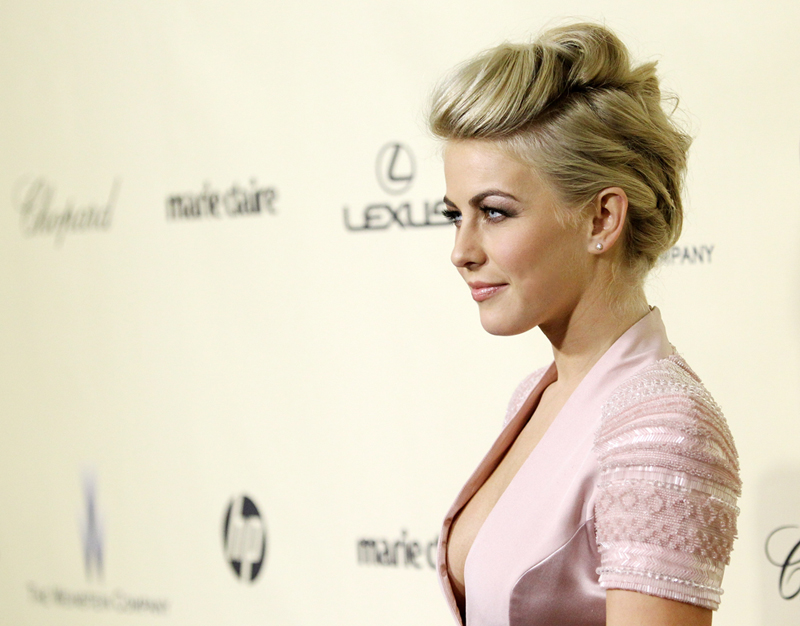 Julianne Hough's Hair at the 2013 Golden Globes