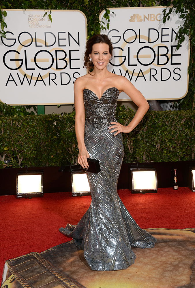2014 GOLDEN GLOBES: Kate Beckinsale's Low, Messy Bun