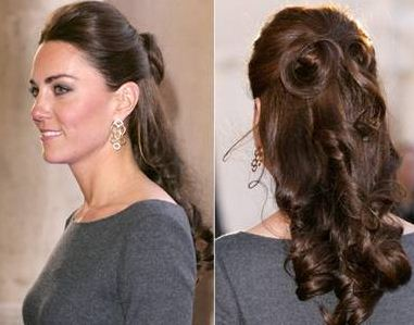 Pregnant Kate Middleton's Holiday Hair and Pin Curls