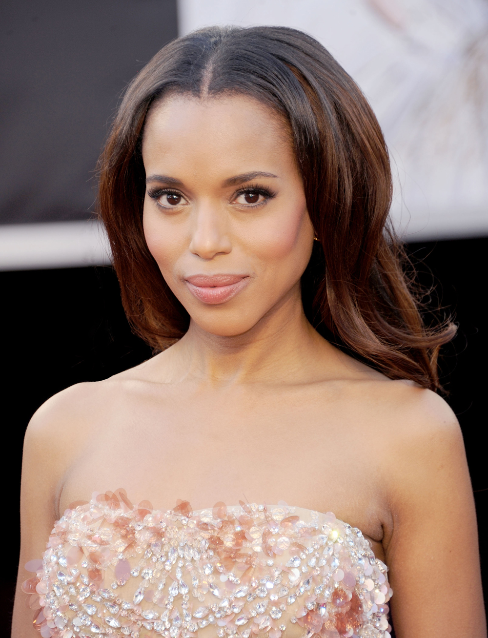 THE OSCARS: Kerry Washington's Voluminous Waves by Moroccanoil