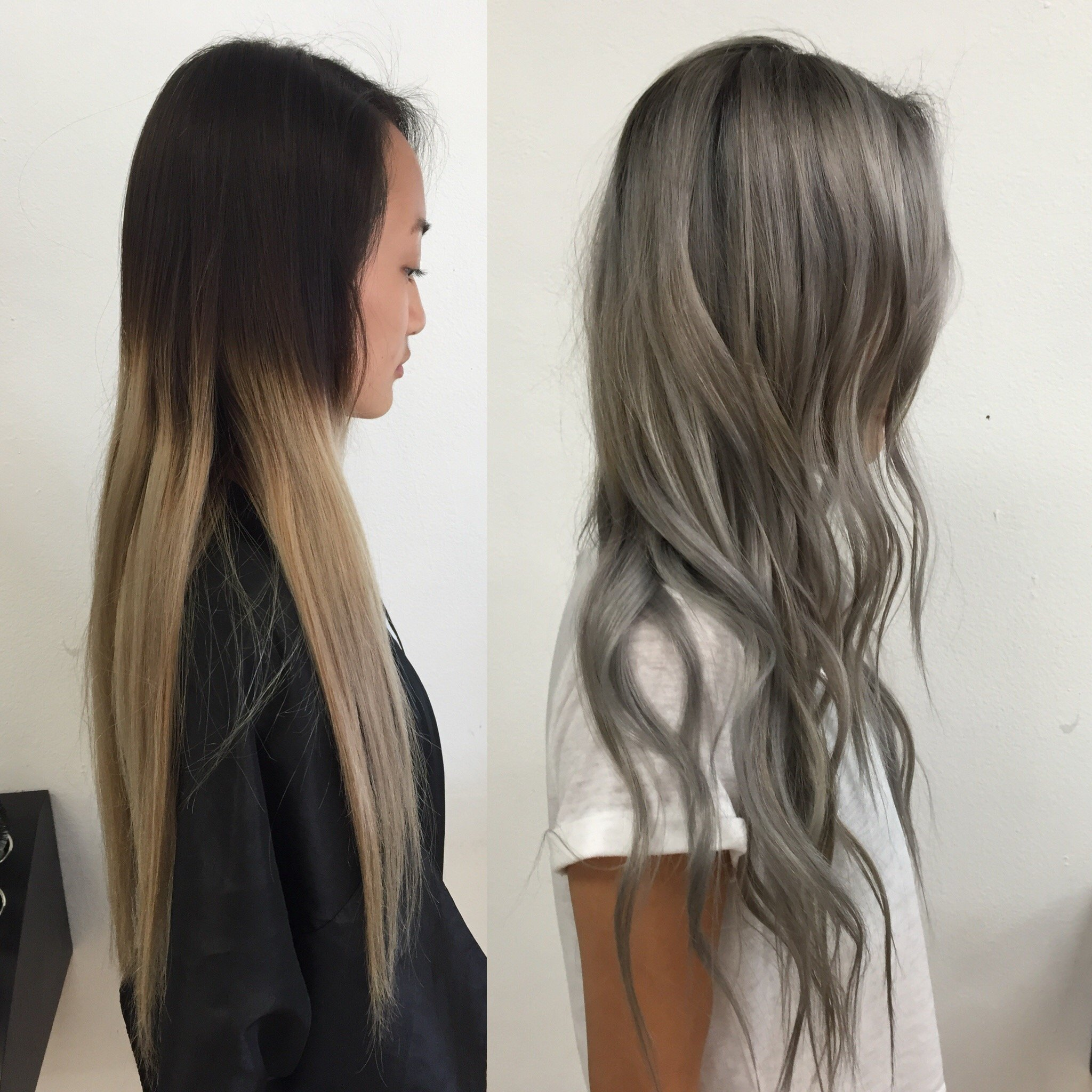 Transformation Old Ombre To Steely Silver Career