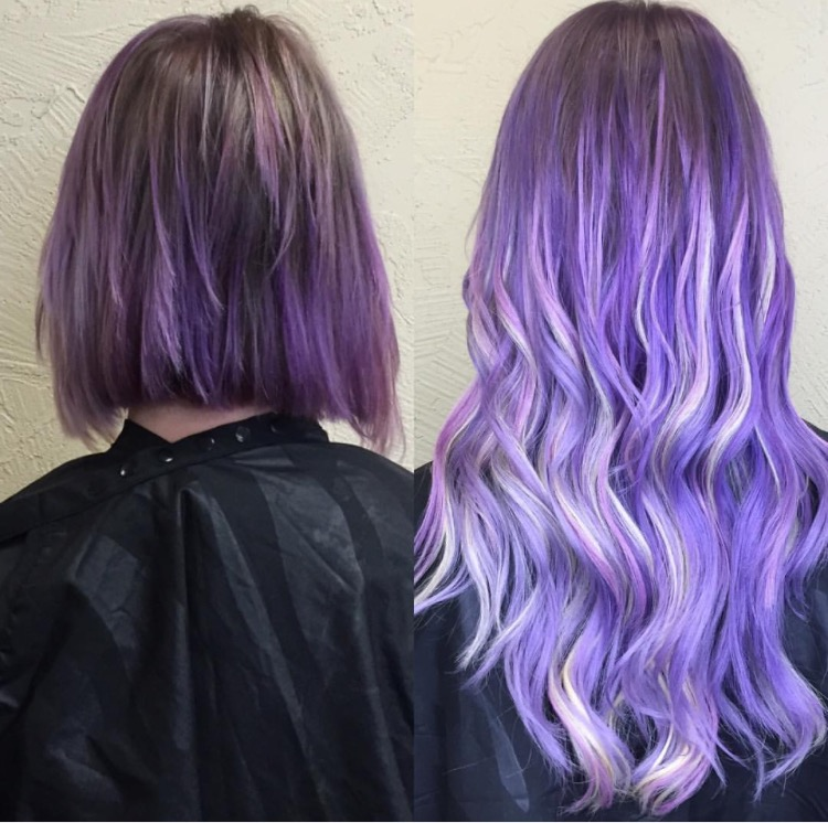 Makeover Color And Extensions For Lilac Elegance Hair Color