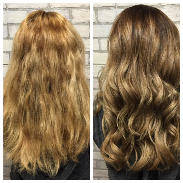 Transformation Brassy Blonde To The Perfect Bronde