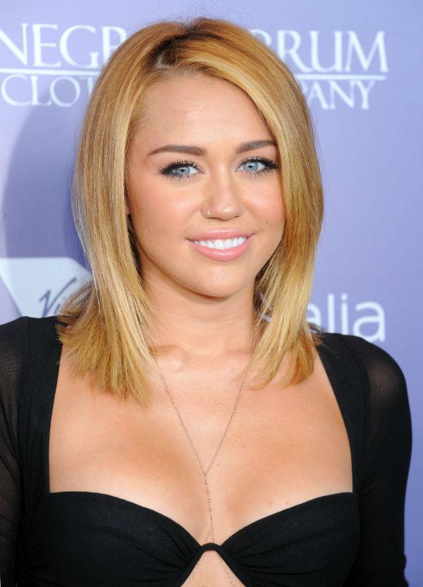 Miley: Shorter, Blonder--Way Blonder