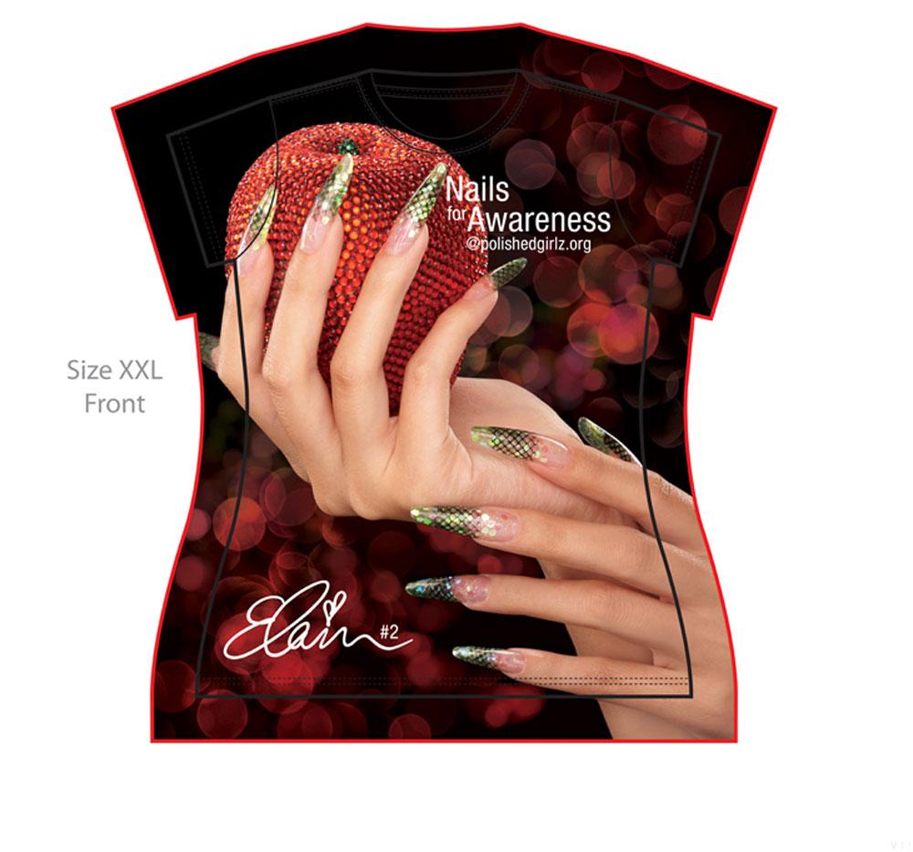 Star Nail Educator Designs T-Shirt for Charity