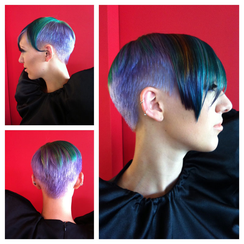 Neon Pastel Bright Wild Color Formulas Revealed At The Mastery - Peacock hairstyle color