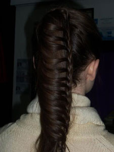 Draped French Braid Pony Seen on Pinterest: The How-To
