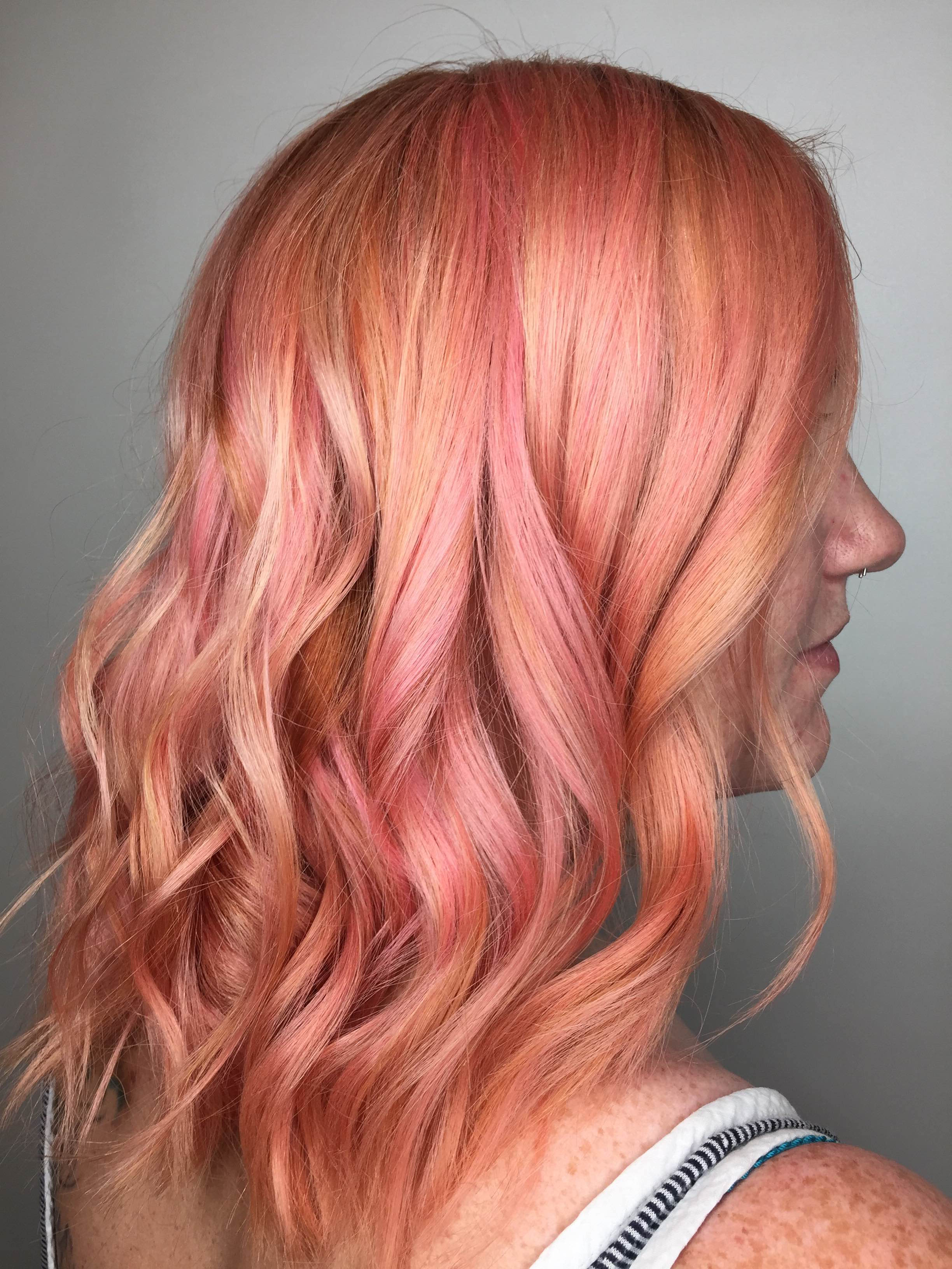 Makeover Crazy Long To Dimensional Pink Rose Gold