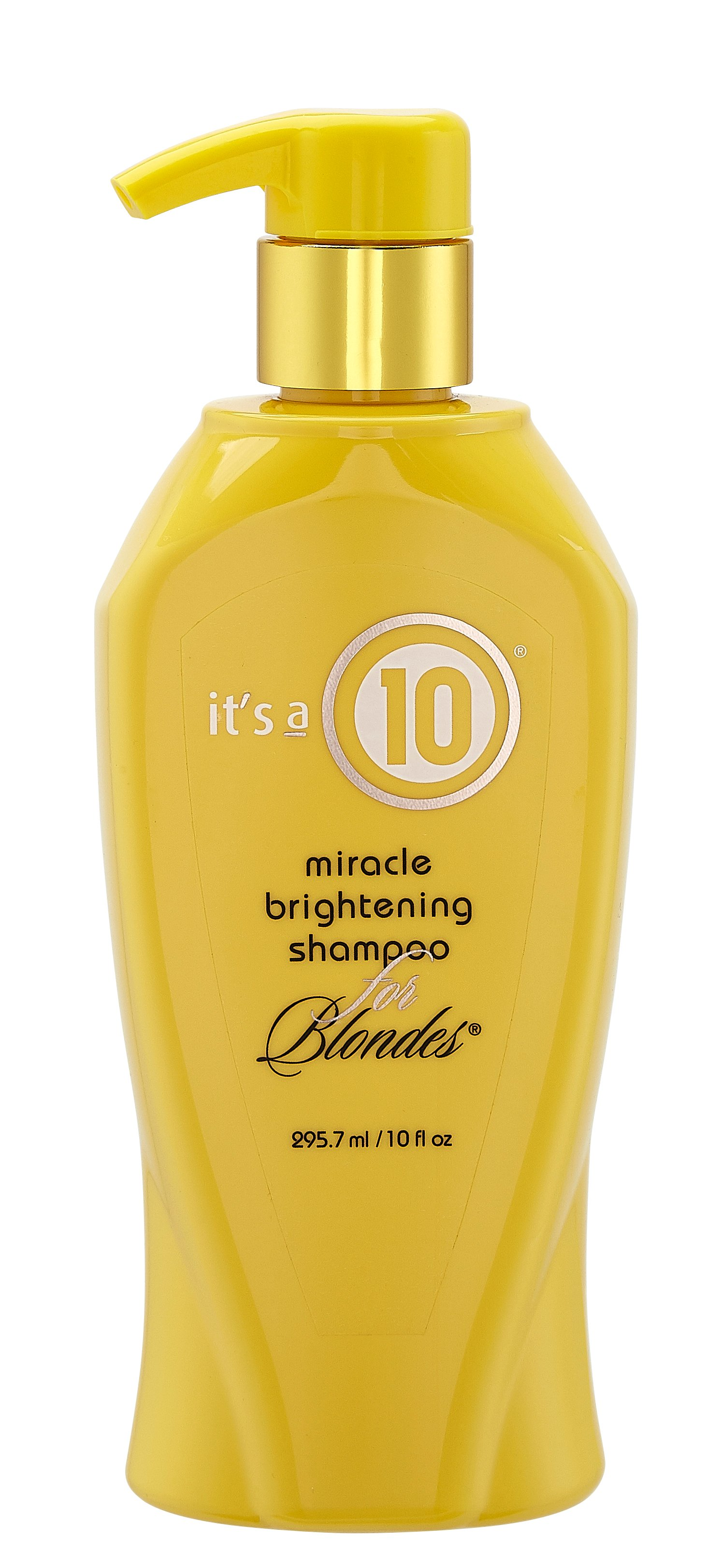 It's a 10 Expands Miracle Blonde Collection with Miracle Brightening Shampoo for Blondes
