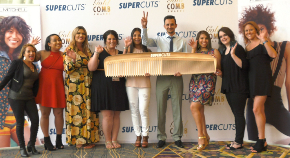 The 2018 Supercuts Gold Comb winners had lots of reasons to celebrate!