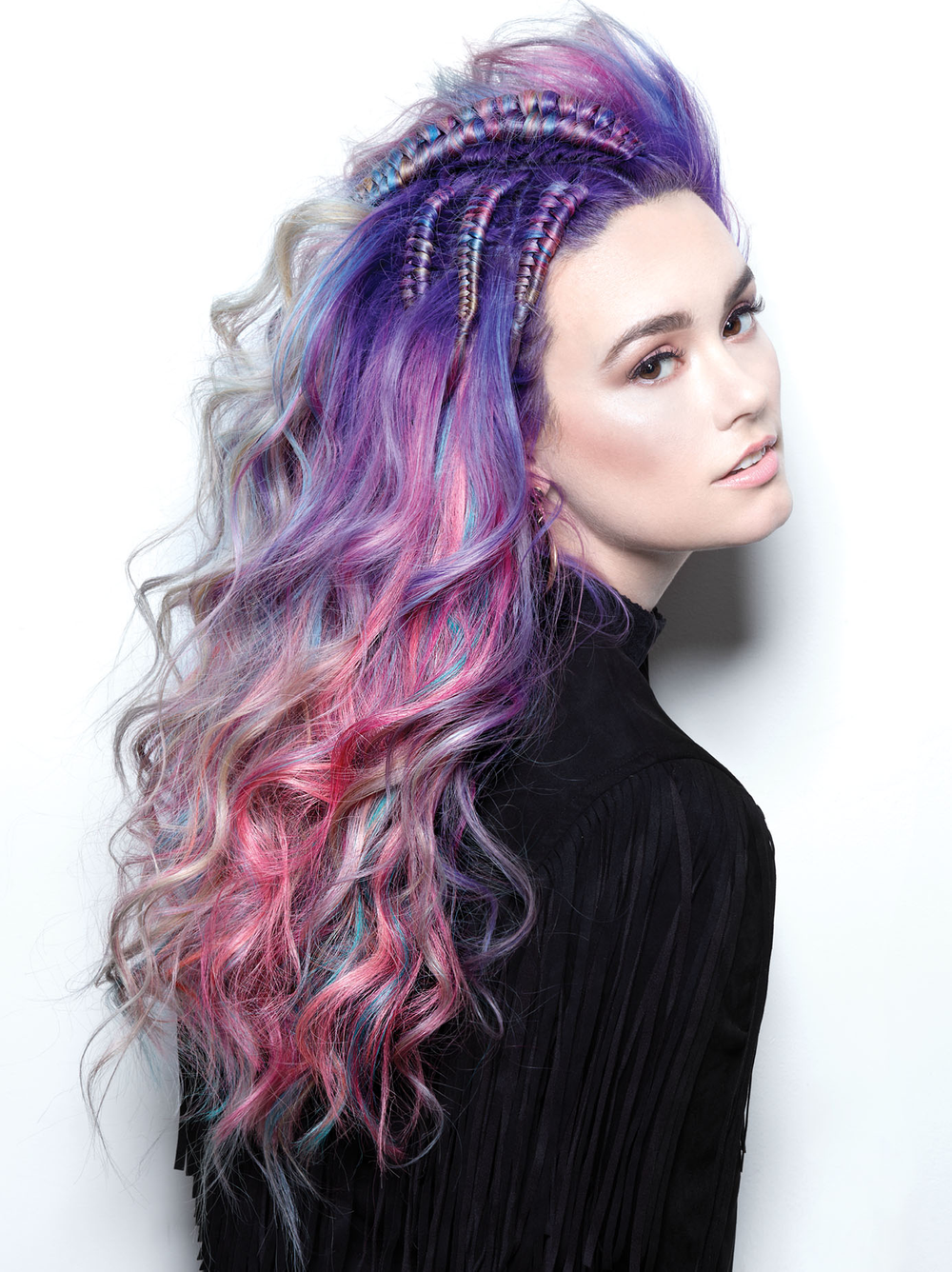<p>Hair: Sydney Lopez + Antonio Estrada for R+Co and Great Lengths</p> <p>Photographer: Roberto Ligresti</p> <p>Makeup: David Maderich and Jacquelyn Jordan</p> <p>Nails: Galyna Poczciwinski</p>