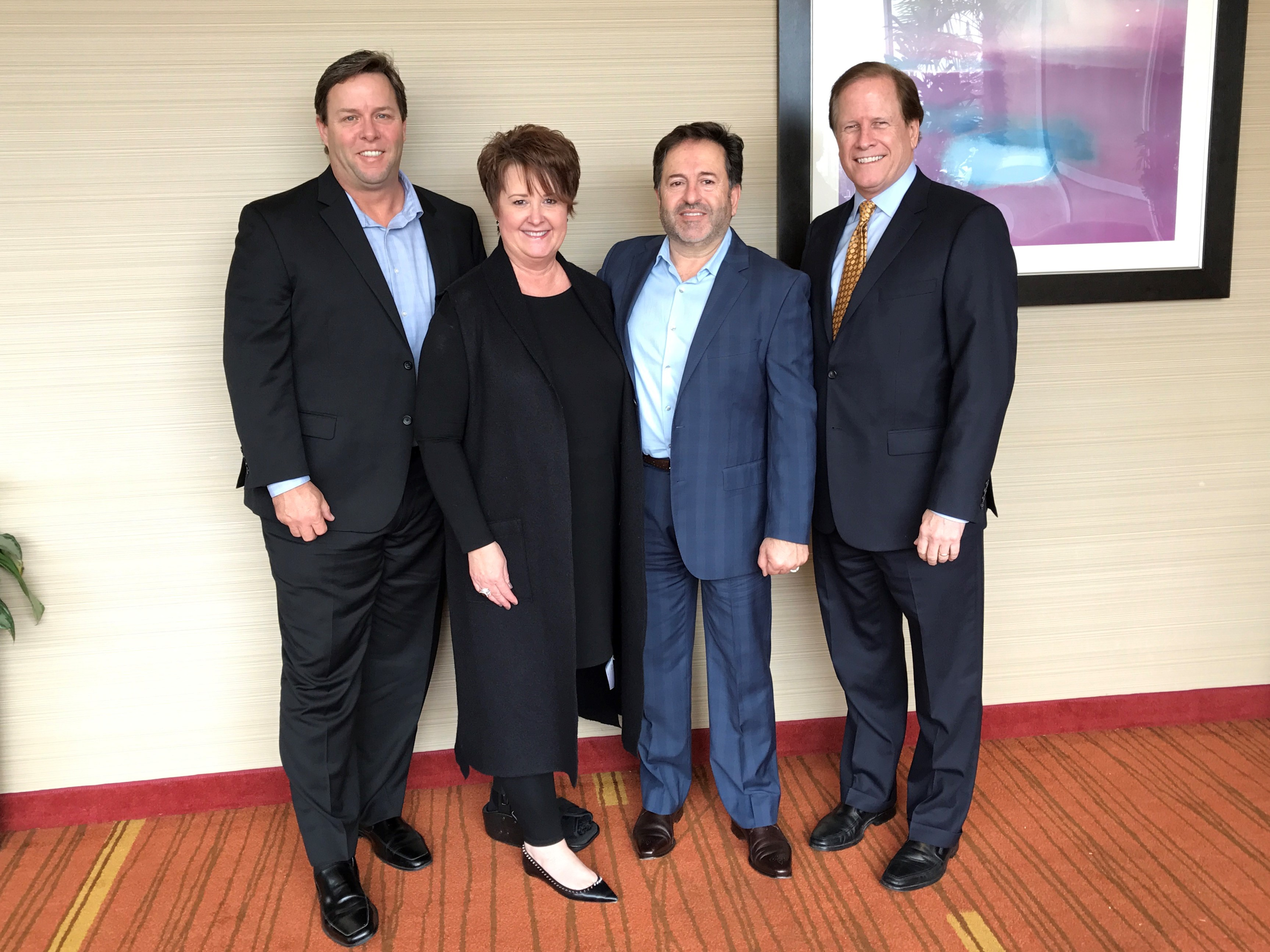 Thomas Clarke, Vice President of Operations, Kymberly Helser, Vice President of Sales, Karl Sweis, President Sweis Inc. and Glen Pacek, Executive Vice President of Sales.