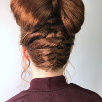 How-To: Festive Braided Bow Updo by @hairbydorthi